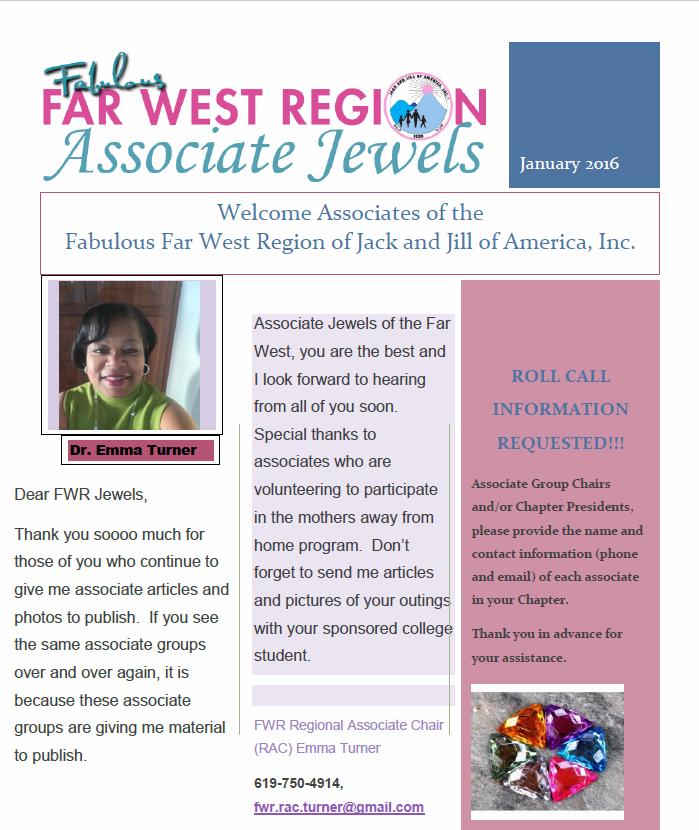Associate Jewels Newsletter – Jan 2016